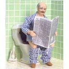 Man på toalettbesök
